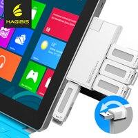 Hagibis 180 Degrés Rotation USB 3.0 HUB Super Speed Externe 4 Port Usb Splitter Port pour Macbook Air Ordinateur Portable PC Ordinateur Usb Hub