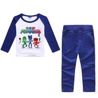 2017 PJ Long Sleeve MASKS T Shirts Boy S Clothing Sets Sport Pullover Set Fashion Kid