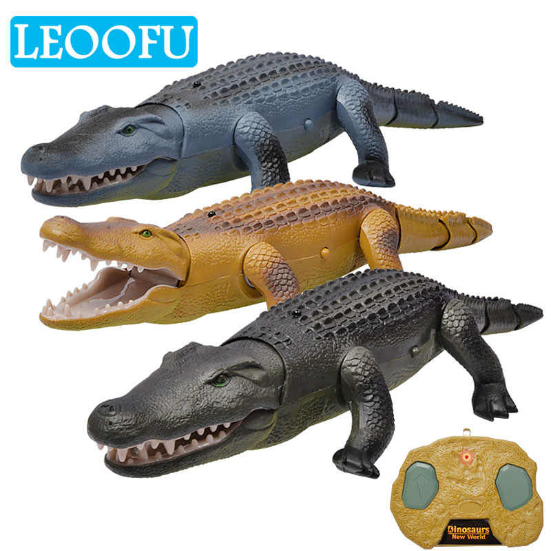 LEOOFU simulation creative remote control animal electronic pet alligator animal model of educational play toys for children