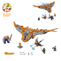 76107 1125pcs Marvel Super Heroes Avengers Infinity War Thanos Ultimate Battle Building Blocks Toys For Children
