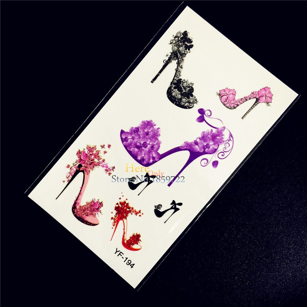 Beauty & Health 1pc Cartoon Lovely Heel Shoes Temporary Tattoo Sexy Women Body Art Arm Legs Tatoo Hyf-194 Beauty Prom Pump Party Tattoo Stickers New Varieties Are Introduced One After Another