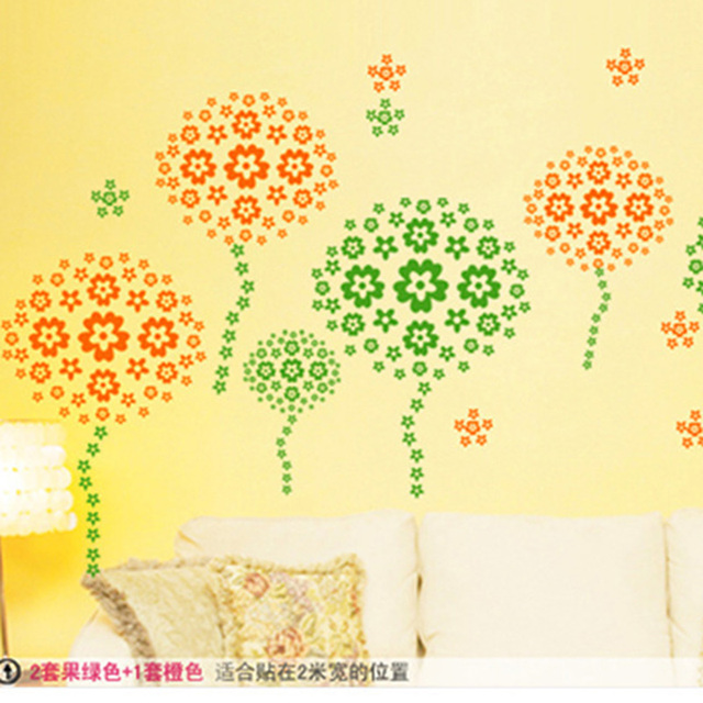 Wall Sticker Kids No white border butterfly flower removable home ...