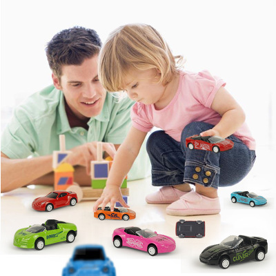 Image 2 - 1Pcs Great Pull Back Car Model Car Fashion Dazzle Sports Toy Car Diecast Metal Simulation Vehicles Toys For Children-in Diecasts & Toy Vehicles from Toys & Hobbies