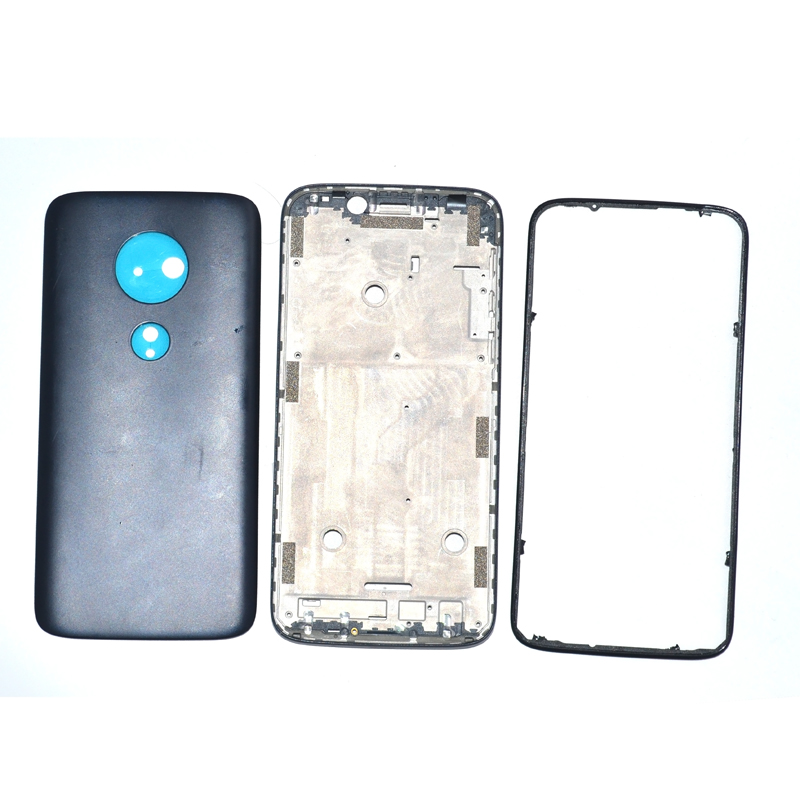 Original Front Housing For Motorola Moto G7 play <font><b>XT1952</b></font>-2 LCD Frame + Ring bezel + battery cover full Replacement repair <font><b>parts</b></font> image