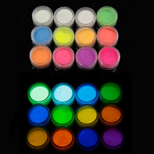 Get more info on the 12 Pcs Phosphorescent After-Glow Pigment nail art neon pigment powder fluorescent glitter powder glow in dark acrylic powder