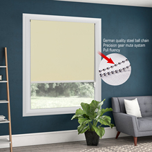 100% Blackout Metal Bead Rope Khaki Roller Blinds Thermal Shade Window Customized
