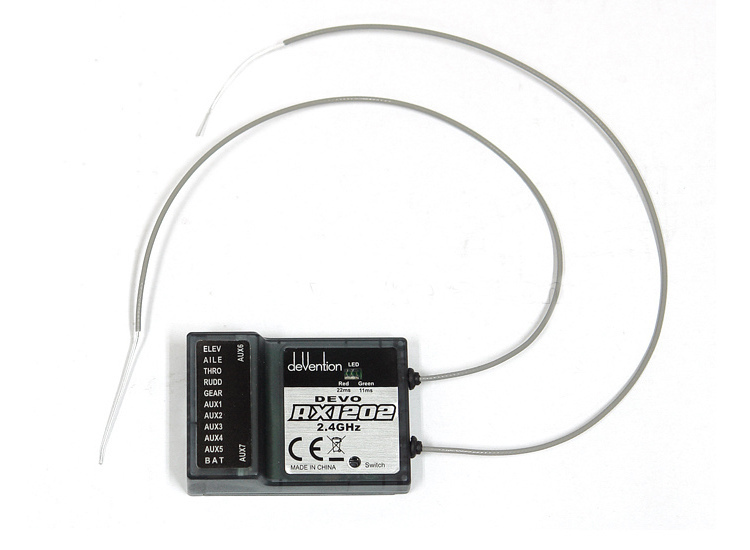Walkera DEVO RX1202 12 Channel Receiver 2.4Ghz 12CH For Walkera DEVO Transmitter walkera devo f12e fpv transmitter 5 8ghz 12ch image monitor