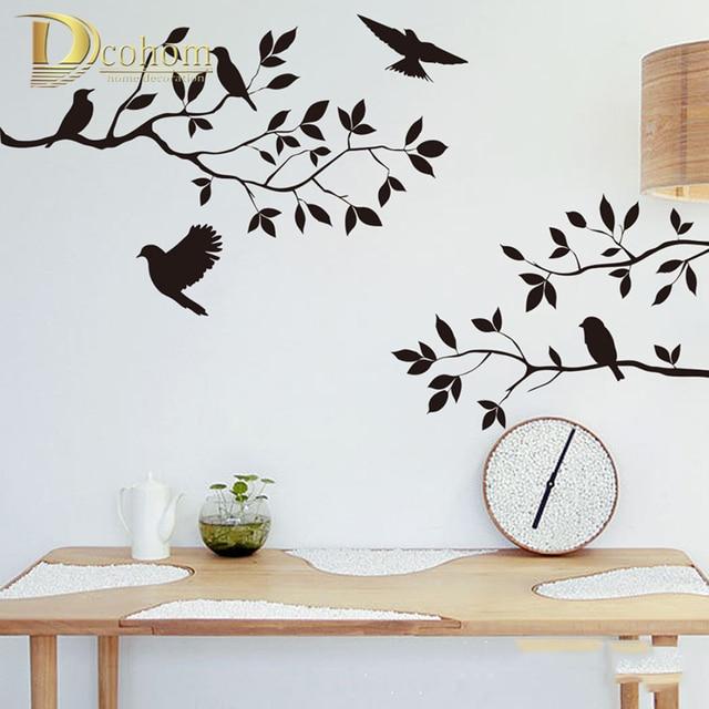 vinyl tree wall stickers bird art room diy wallpaper furniture