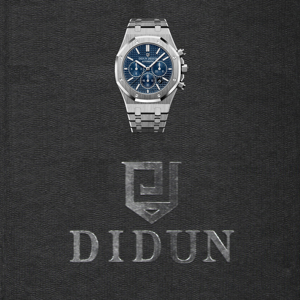 2019 New Watches Men Luxury Brand DIDUN Chronograph Men Sports Watches Waterproof Full Steel Quartz Men's Watch clock men didun watches men luxury brand watches mens steel quartz watches men diving sports watch luminous wristwatch waterproof