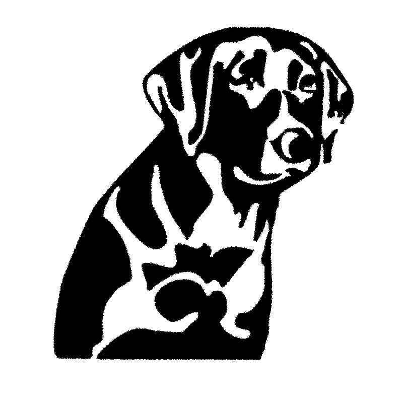 13 2cm7 8cm Service Dog Animal Car Accessories Vinyl Car Sticker S4