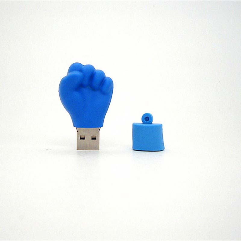 Real Capacity Thermal Shot Boxing Fist Finger USB Flash Drive 1GB 4GB 8GB 16GB 32GB Pen Driver Personal Gift S66 DD