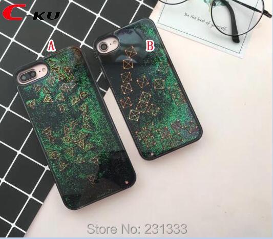 Cellphones & Telecommunications Qualified C-ku Quicksand Liquid Glitter Case For Iphone 8 Plus I8 7 7plus I7 6 6s Tetris Dynamic Soft Tpu Frame Pc Back Skin Fashion 50pcs