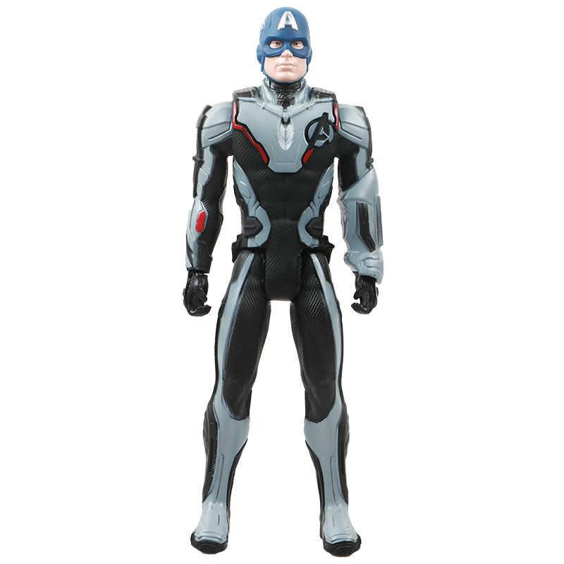 30 см Marvel Мстители игрушечные лошадки танос Халк Бастер Человек-паук Железный человек Капитан Америка Тор Росомаха Черная пантера действие фигурки кукол