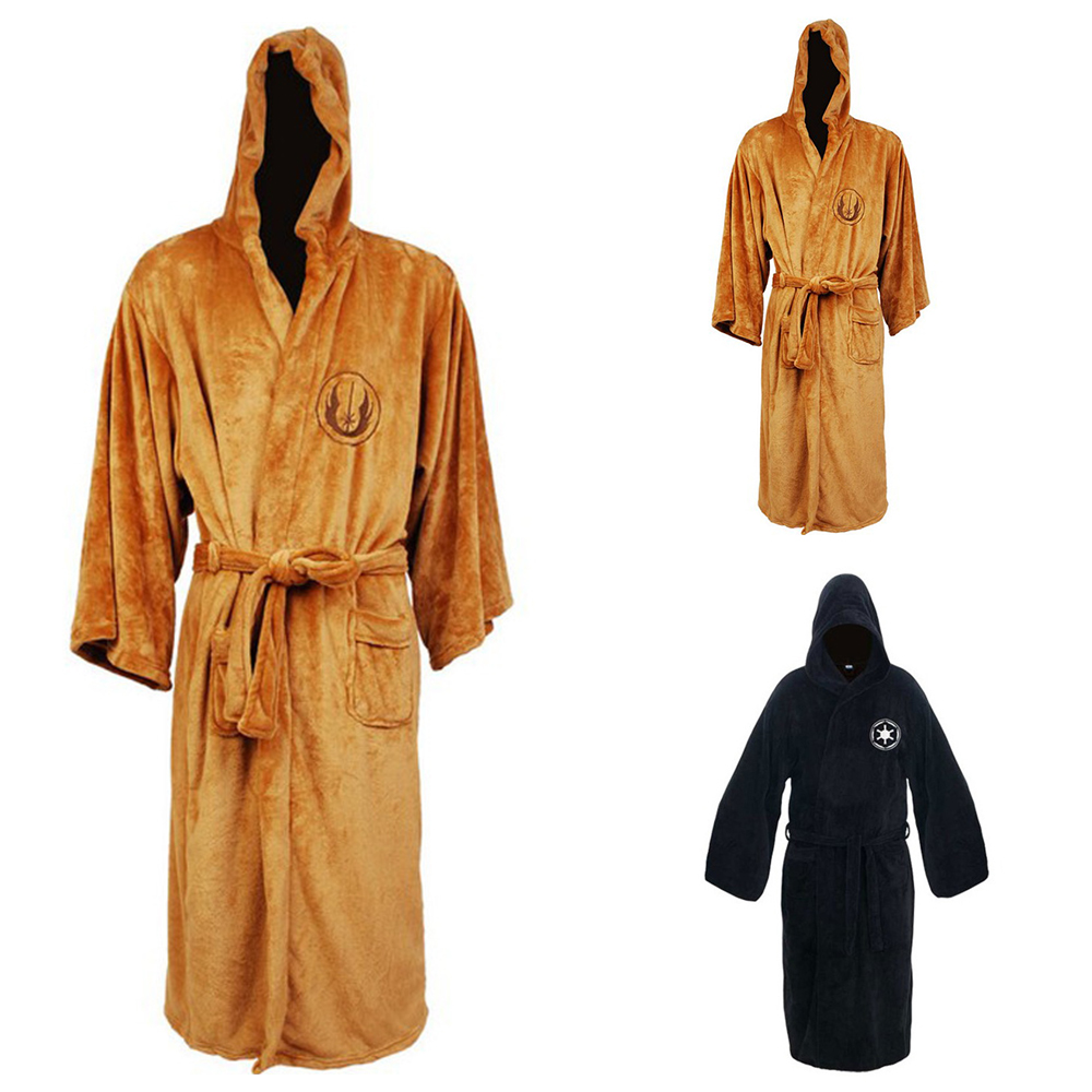 New Arrival Robe Male With Hooded Thick Star Wars Dressing Gown Jedi ...