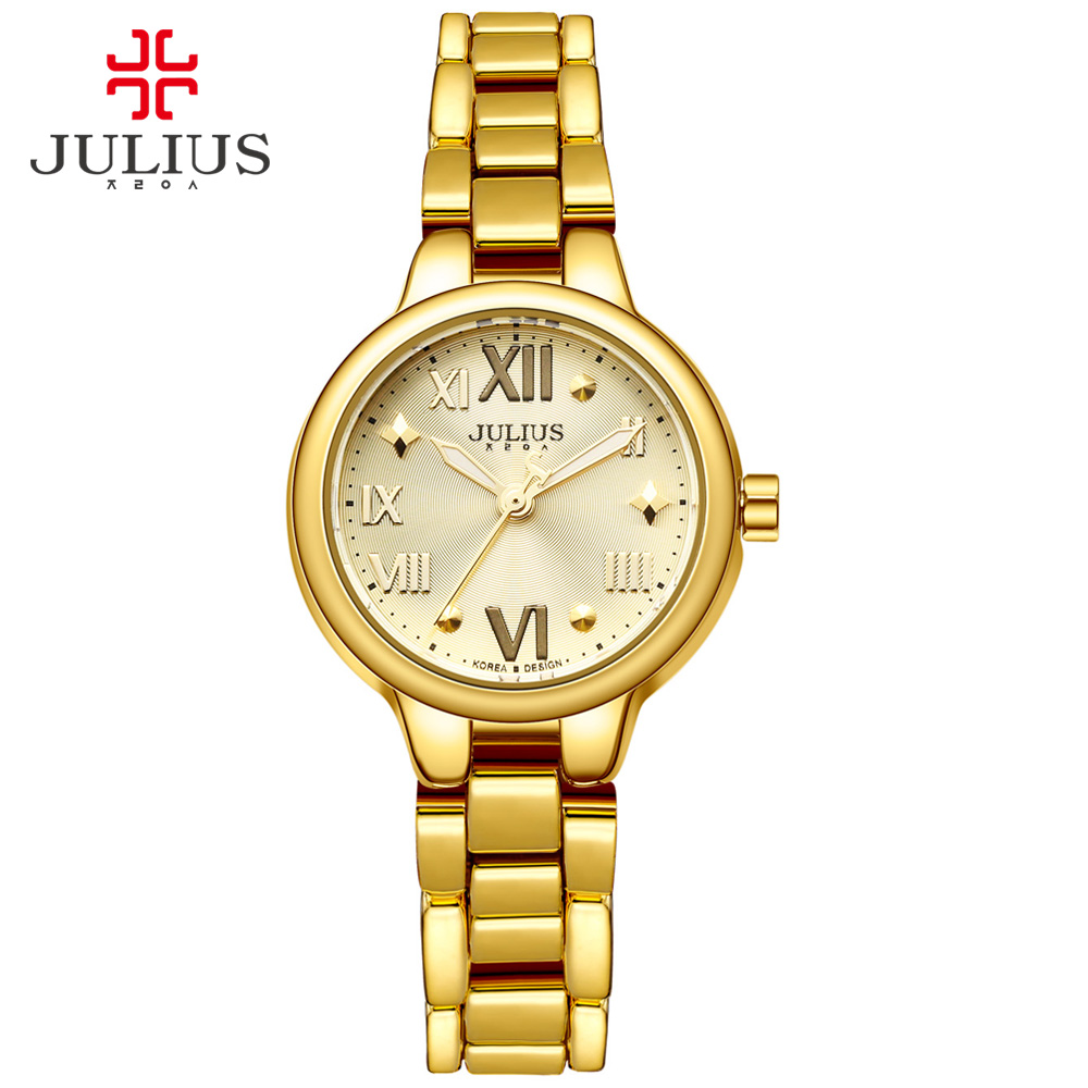ФОТО JULIUS Logo Famous Brand Dress Watch Vintage Gold Watch For Girl Ultra Slim Silver Relojes De Mujer De La Marca De Lujo JA-919