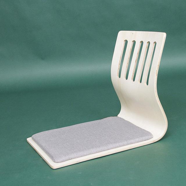 (4 pçs/lote) Almofada Do Assento Cadeira Chão Japonês Design Branco Acabamento Móveis Orientais Sala Tatami Zaisu Cadeira Atacado