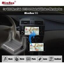 Mirabox 5G Araba Ayna bağlantı Kutusu Için iOS12 HDMI Ve CVBS (AV) bağlantı noktaları Araç Mirrorlink Kutusu Android Destek Youtube