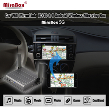 Mirabox 5G Auto Specchio Box di collegamento Per iOS12 Con HDMI E CVBS (AV) porte Auto Mirrorlink Box Per Android Supporto Youtube