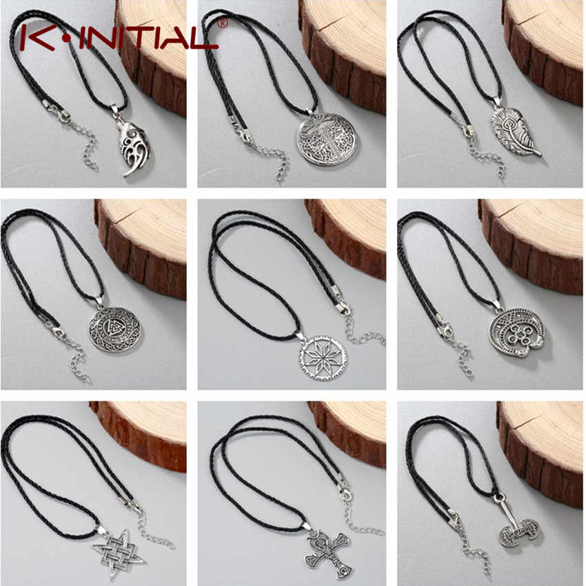 Kinitial Alatyr Star Slavic Thor collares Jewelry Amulet Necklace Norse Occult Pendants Germanic Pagan Men Charm Necklaces