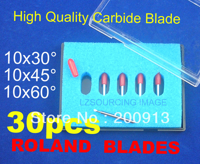 30 pc (30 Degree 45 Degree 60 Degree) High Quality Cutter Blade blades for Roland liyu GCC Yinhe Cutting plotter vinyl cutter