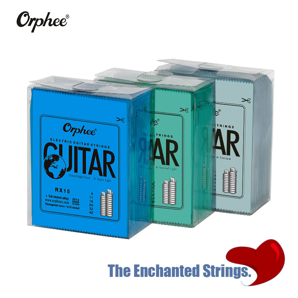 Orphee Free Shipping Hot 1 Set Practiced Nickel Plated Steel Guitar Strings For Electric Guitar With Original Retail Package 1