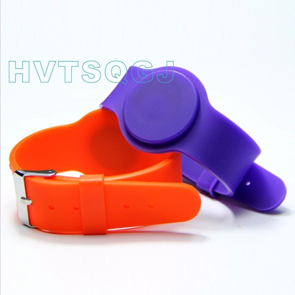 Security & Protection Honey 50pcs/lot 13.56mhz Mf1k S50 Rfid Smart Wristband Silicone Electronic Bracelets Wrist Band Nfc