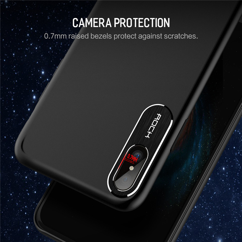 separation shoes 4deae ca815 US $4.15 48% OFF|For iPhone X Case ROCK Luxury Business Style Metal Phone  Camera Protection Transparent Case For iPhone X Cover -in Fitted Cases from  ...