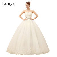 Free Shipping Princess Crystal Sashes Wedding Dress 2016 Cheap Ball Gown Bridal Gowns Customized Vestido De