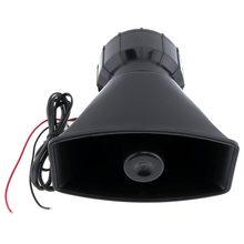 12V 100W 5Sound Tones Horn Motorcycle Auto Car Truck Vehicle Speaker Loud Siren Horn Loud Warning Alarm Police Fire Speaker MIC(China)
