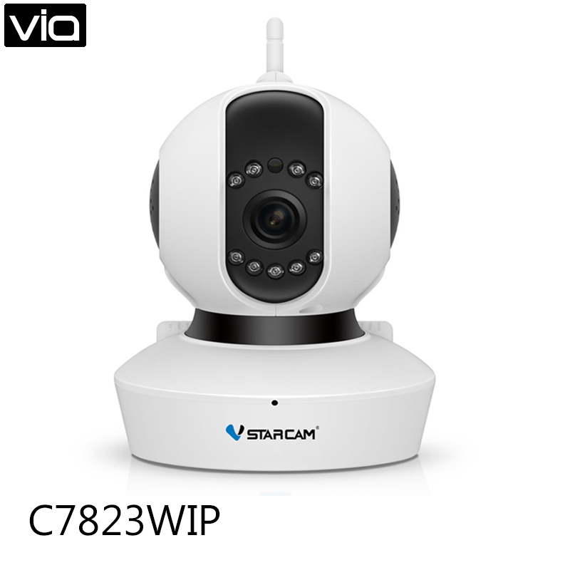 VStarcam C7823WIP Free Shipping HD 720P HD Home Wireless/WiFi 720P IP Camera Onvif P2P Pan/Tilt Micro SD Card Slot wifi ipc 720p 1280 720p household camera onvif with allbrand camera free shipping