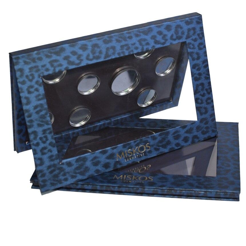 Miskos Leopard Leere Magnetische Palette Make-Up Pigment Glanz Pulver Fundation DIY Refill Palette Refill Lidschatten Kosmetik