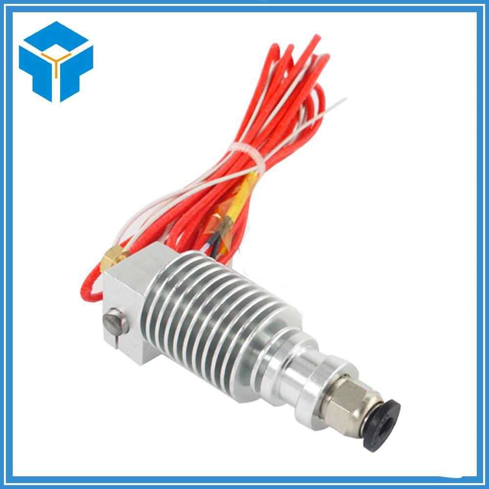 цена на 3D printer V6 remote extrusion print head extruder with Thermistors Cartridge Heater J-HEAD hotend long distance bowden