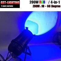 2018 새로운 200 w led cob 줌 led 파 rgbw 4 in 1/rgb 3 in 1/실내 줌 무대 조명 파 캔 Dmx-512