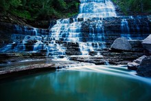 water landscapes nature forests Canada photography waterfalls ontario falls cloth silk art wall poster and prints(China)