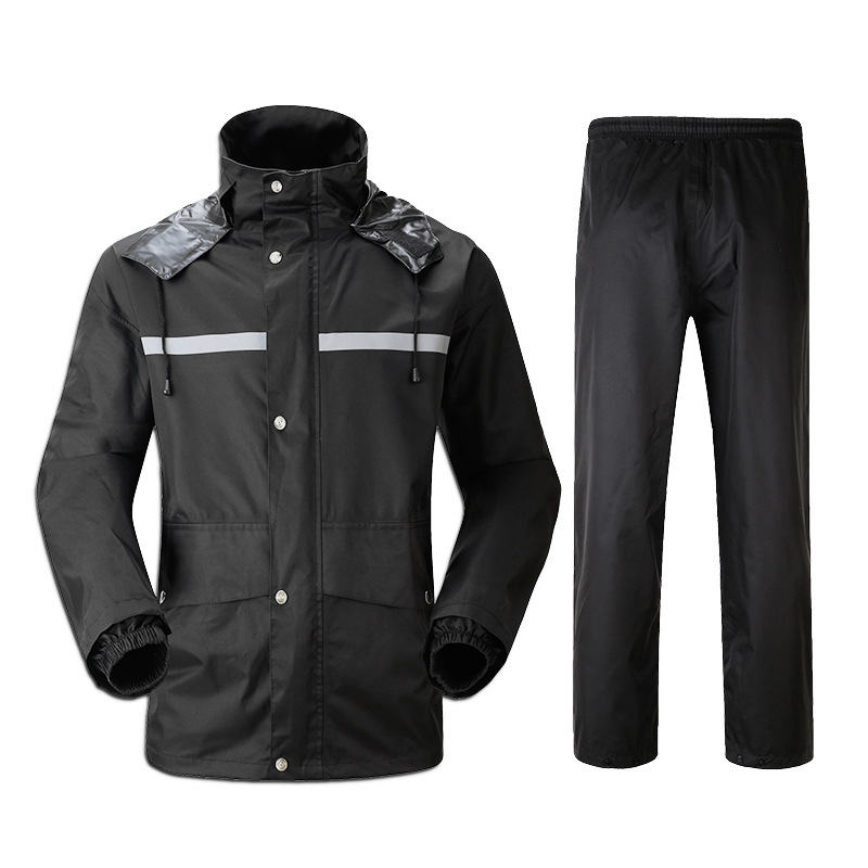 все цены на 2018 outdoor split fishing suit Rainwear rain pants suit fashionable single man split adult male motorcycle