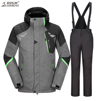 High Experience 2017 Winter Ski Suit Men Sport Suits Snowboard Jacket Men Snow Clothing Motorcycle Race
