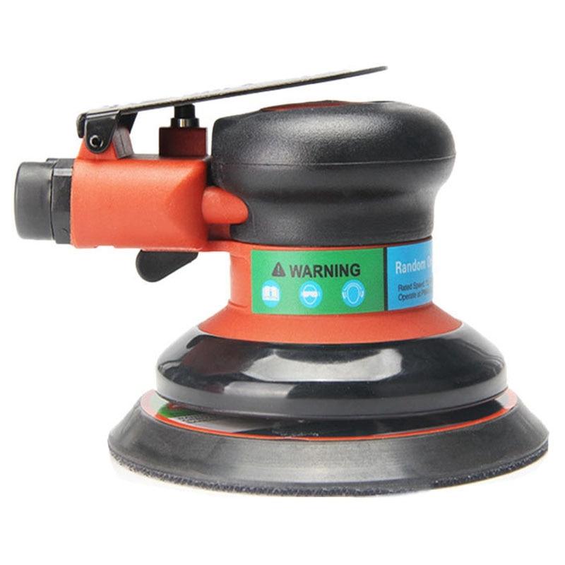 Air Random Track Palm Sander Polisher For 5inch 125mm Pad Pneumatic Power Tool