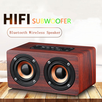 Wooden Bluetooth Speaker Portable Wireless HIFI Subwoofer Sound Box Support TF Card Voice Prompt Call Bluetooth Connection AUX