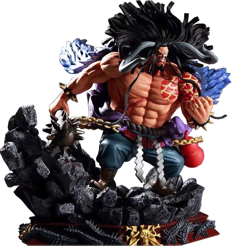 1 Pcs 15CM One Piece Kaido Anime Action Figure statue In PVC doll toy new