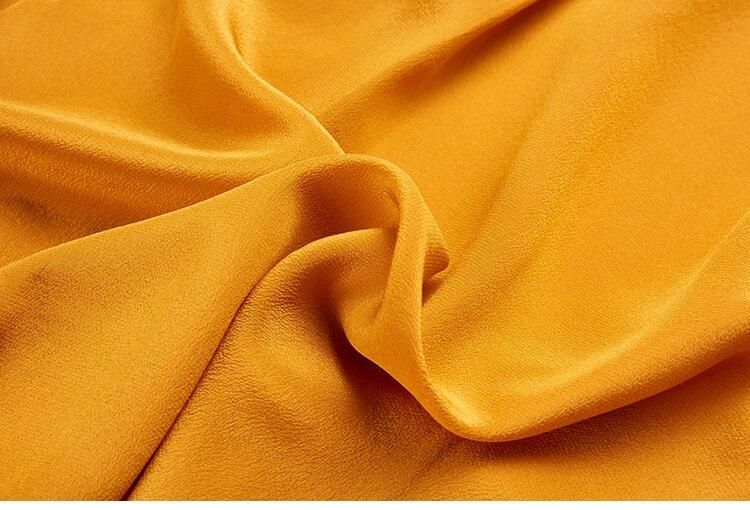 5xl Oficina 01 Larga La Tamaño Mujeres Mora Mujer Seda Mujeres Crepe camisa natural Camisa Naranja plus color De 100 Manga Blusas camisa PAqRPwgf