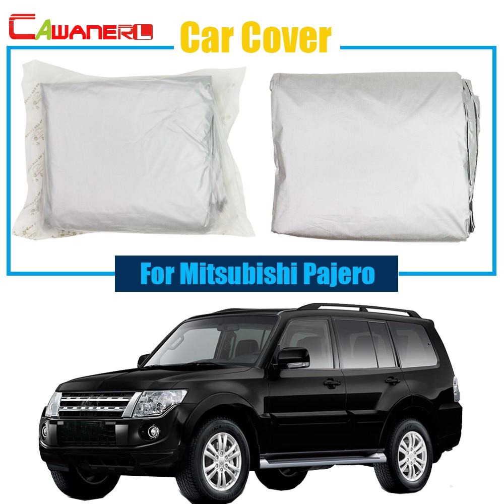 Cawanerl Car Cover SUV Outdoor Anti UV Snow Rain Sun Resistant Protector Cover Sun Shade For Mitsubishi Pajero Quality Warrant ! cawanerl for mitsubishi pajero iv v8