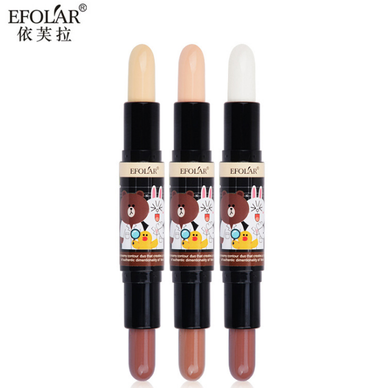 Back To Search Resultsbeauty & Health Body Intellective Efolar Brand Double Head High Light Concealer Facial Blemish Dichroic Shaded Bar Lasting Waterproof