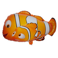 50PC new clown fish aluminum fiol balloon toy for children birthday party Supplies balloons