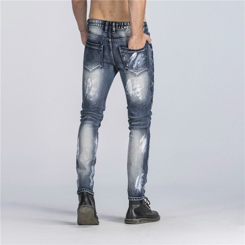 Biker Jeans Pants With Multi Zipper 2