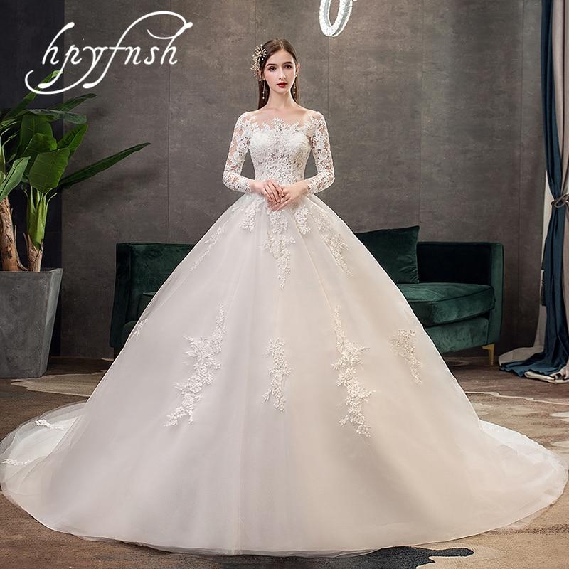 Beautiful Wedding Dresses 2019: Elegant Beautiful Long Sleeve Wedding Dress 2019 New