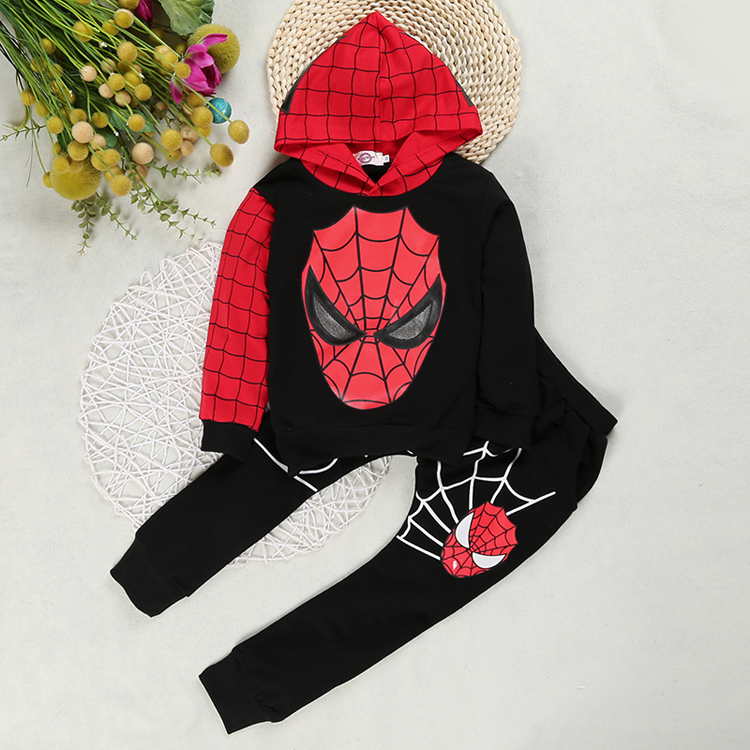Boys Spiderman Clothing Sets Sport Suit For Boys Spring Cotton Spider Man Cosplay Costumes Kids Suits Children Clothing For 1-6Y 4