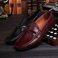 Nuevo Estilo Italiano zapatos de Los Hombres de Cuero Genuino Mocasines Planos Zapatos de Oxfords de Los Hombres de Moda de Los Hombres Formales Zapatos de Vestir de Lujo Zapatos Hombre