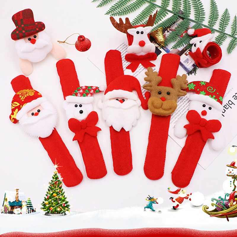 1PCS Christmas Decorations Christmas Patting Circle Christmas Children Gift Santa Claus Snowman Deer New Year Party Toys