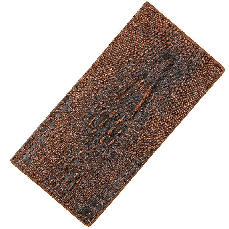 Men's Wallets Money-Bag Coin-Purse Credit-Card-Holder Crocodile-Pattern Zipper Male Long