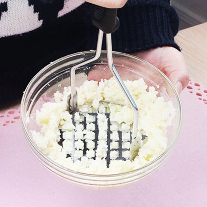 Potato Vegetable Masher Crush Kitchen Tool with Black Handle Sale HG99